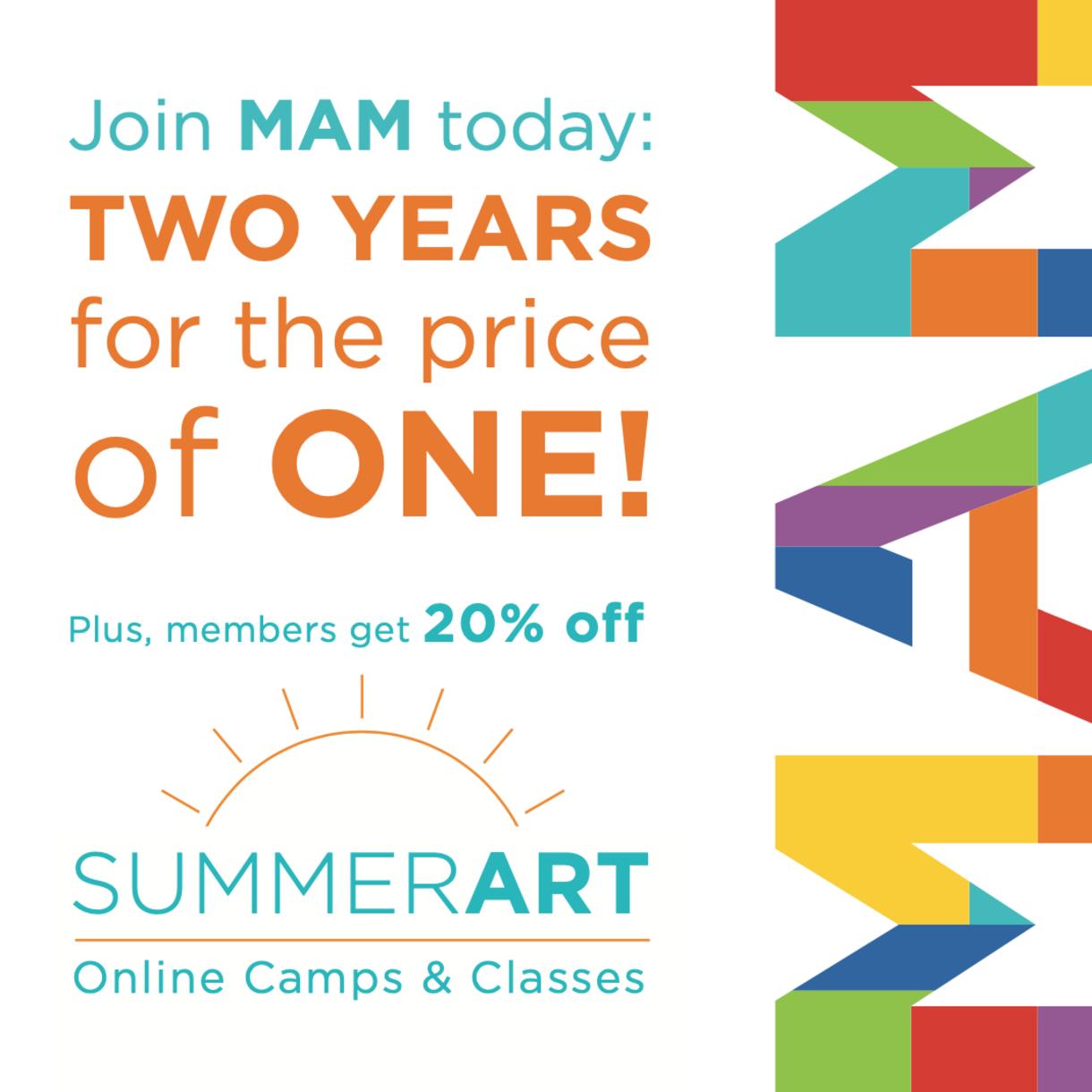 MAM 2 for 1 membership offer