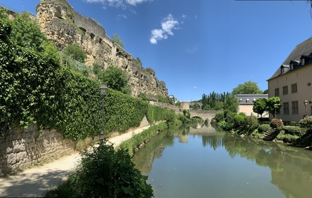 View of the Casemates from along the Alzette