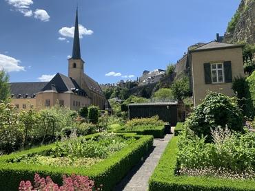 City garden and Abbaye Neumunster