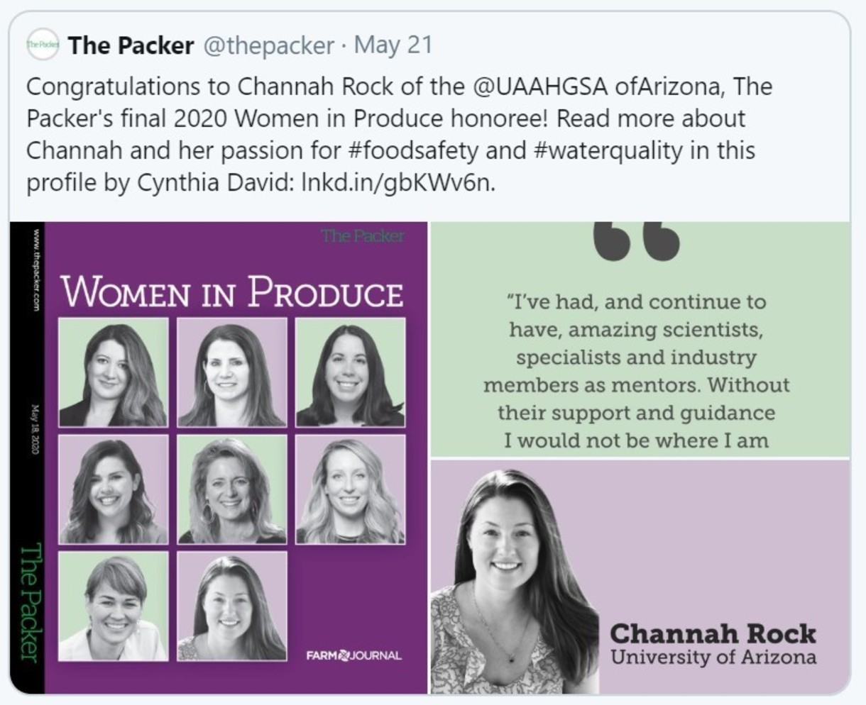 Dr. Channah Rock wins award