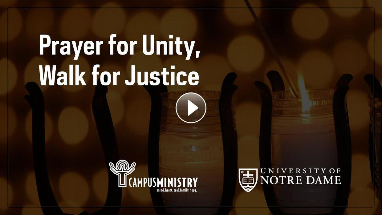 Video of a Prayer for Unity, Walk for Justice