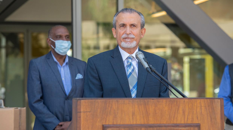 CSUDH Face Shield Donation for Harbor-UCLA