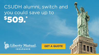 Liberty Mutual ad with Statue of Liberty