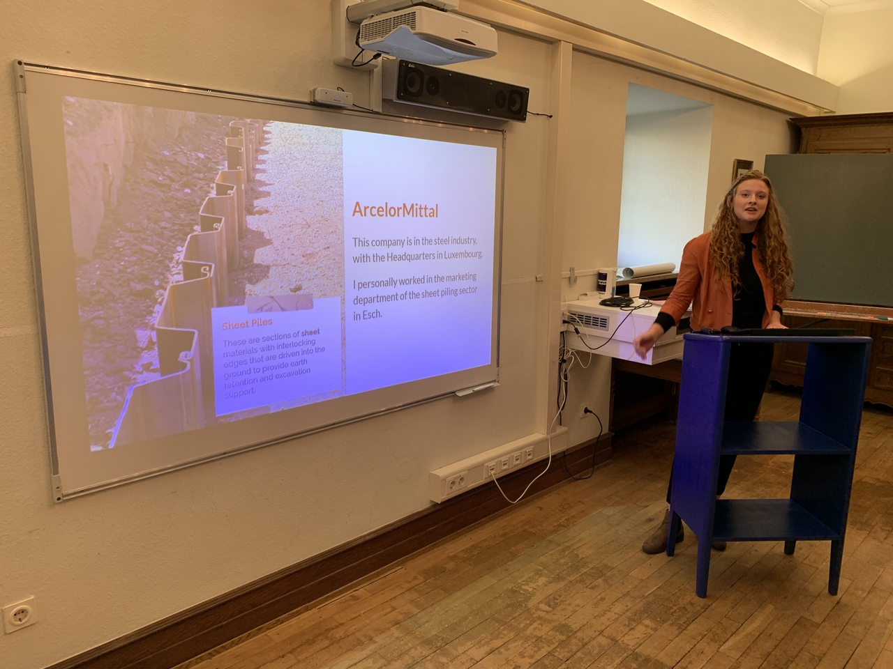 Claire Berry presenting her internship experience-December 2019
