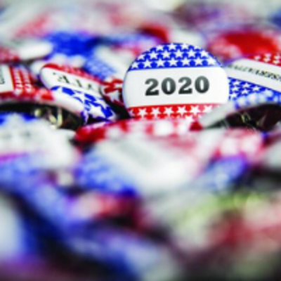VOTE 2020 campaign buttons