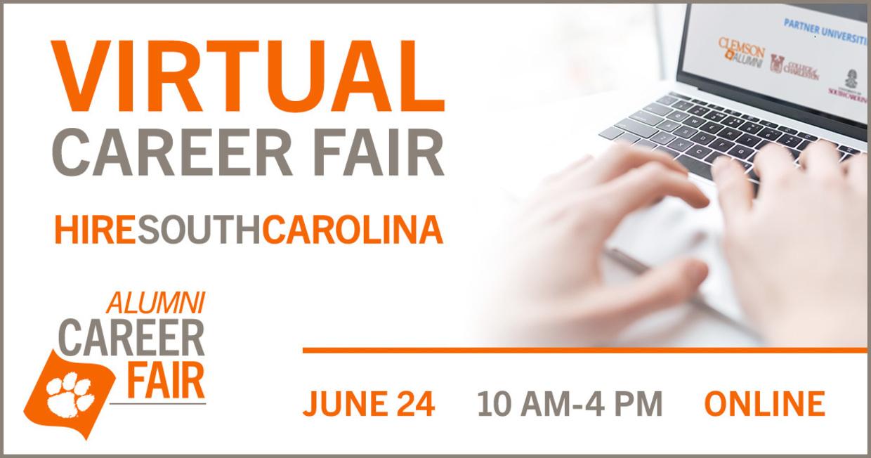 Virtual Career Fair - Hire SouthCarolina Alumni Career Fair, June 24, 10am-4pm Online