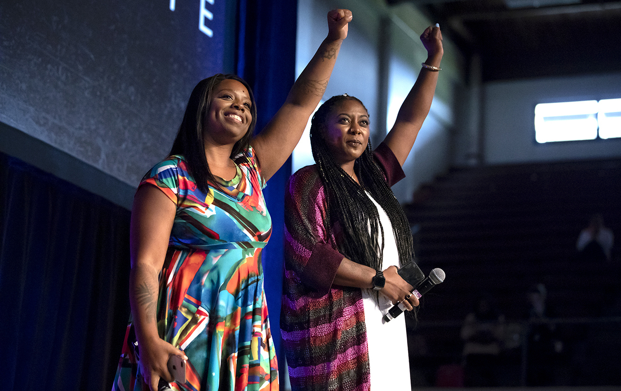 Alicia Garza and Patrisse Cullors, founders of the Black Lives Matter Global Network