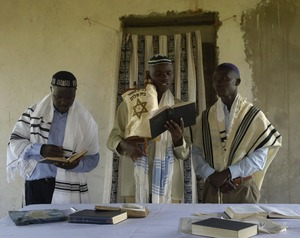 Photo - memberes of the Abayudaya Jewish community of Yuganda