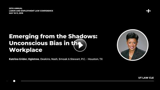 Emerging from the Shadows: Unconscious Bias in the Workplace