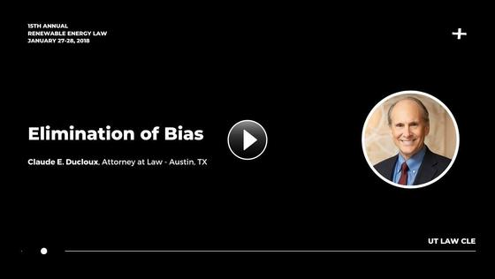 Elimination of Bias