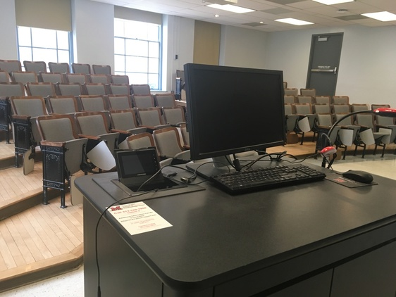 View of a classroom from the front