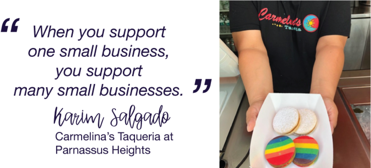 When you support one small business, you support many small businesses.