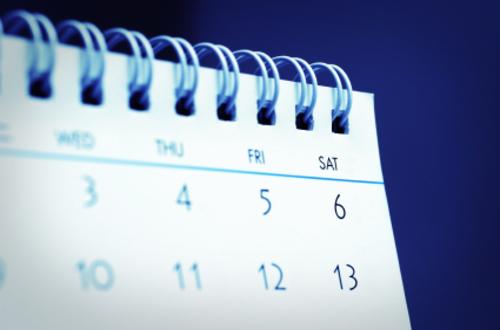 Stock image of a calendar