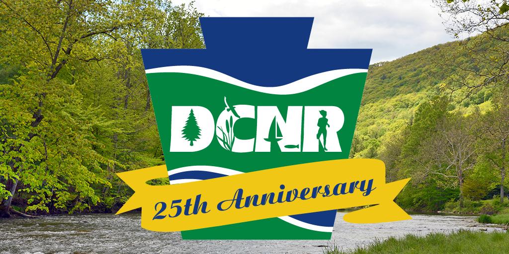 DCNR 25th Anniversary logo