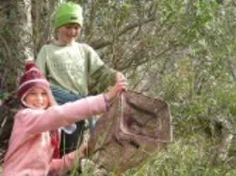 Children connecting with nature