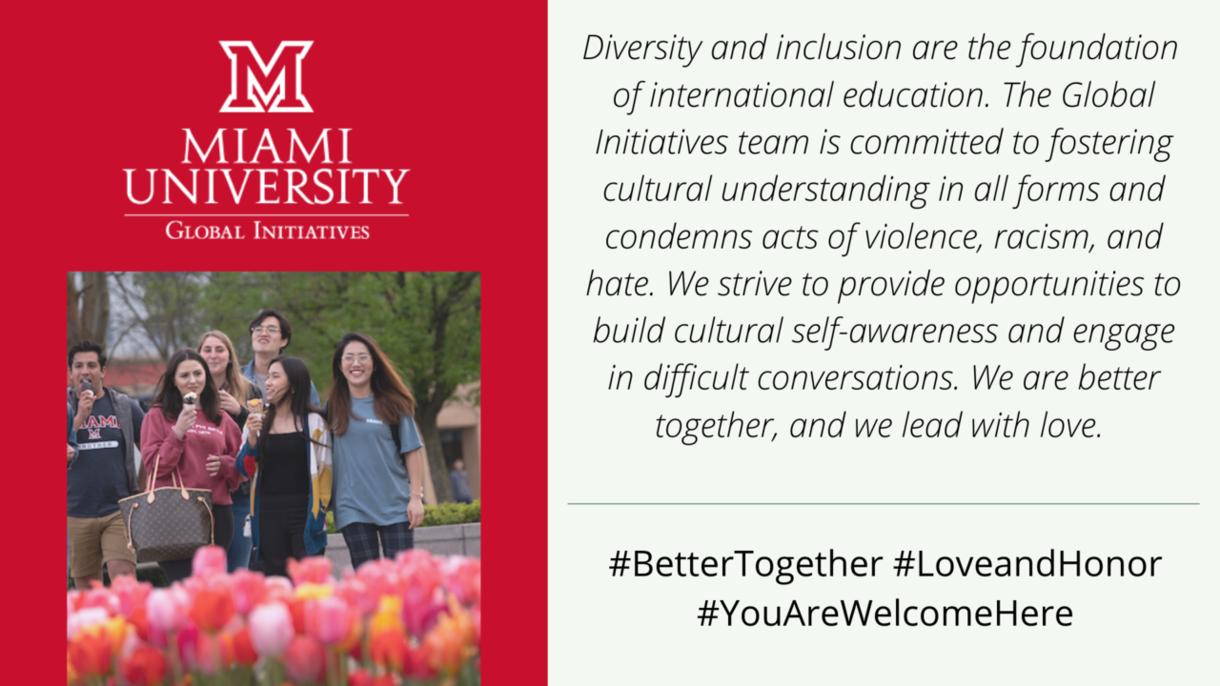 Global Initiatives diversity statement
