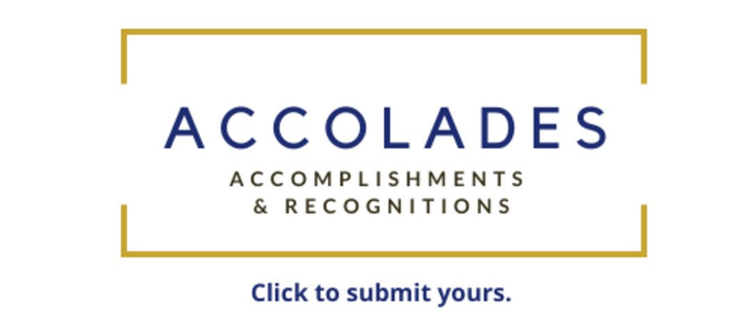 Click to submit information about awards, recognitions you recently received or accomplishments you've achieved outside the University that its connected to your work.