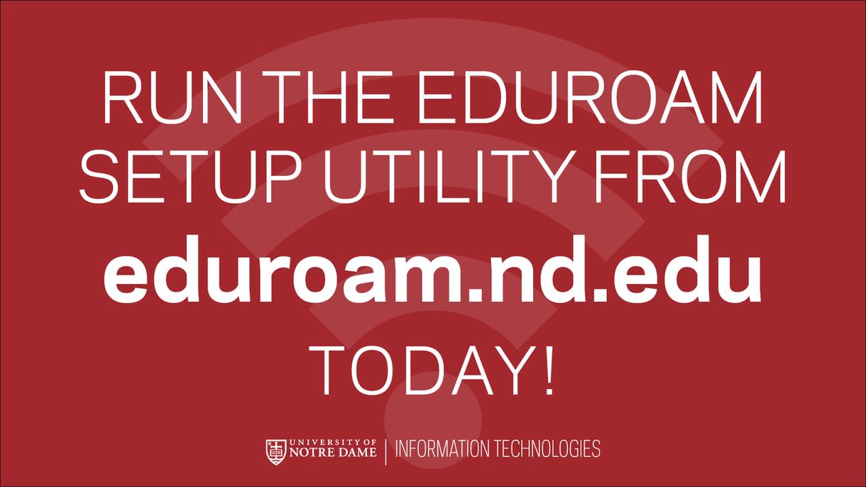 Eduroam setup utility graphic