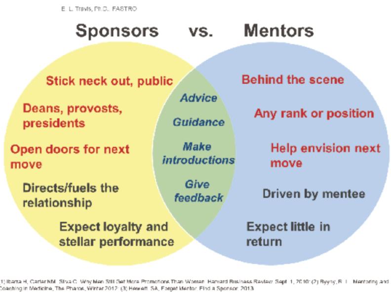 Sponsors vs. Mentors diagram