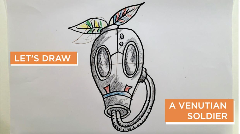 mam cyber studio draw a Venutian Soldier