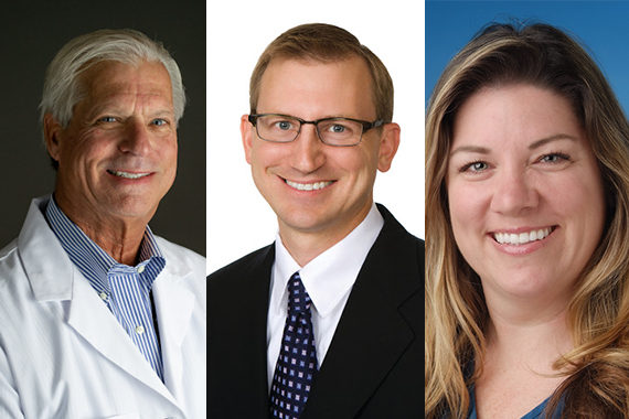 Pictured: Dr. Bernard Petkovich, Dr. David Suchman, Danielle Grotheer