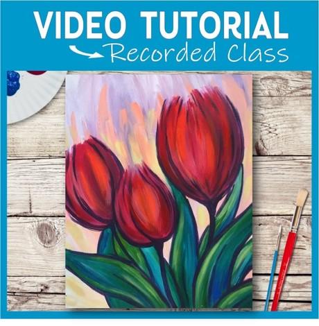 Tulip Trio in Red