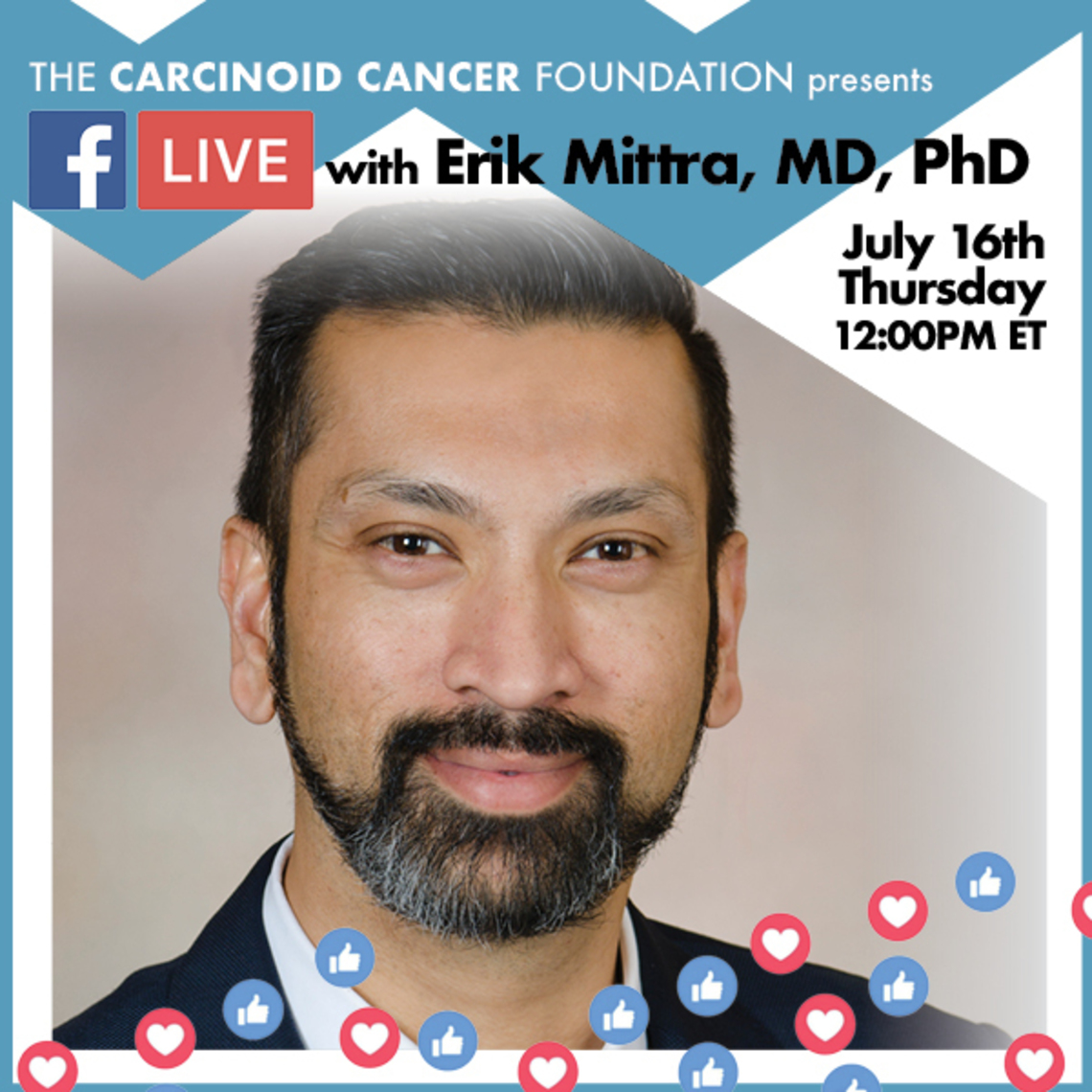Dr. Erik Mittra will be the featured guest for Luncheon with the Experts