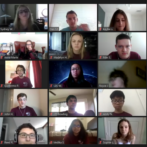 GeoX campers during the 2020 virtual GeoX