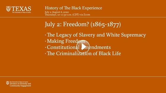 History of The Black Experience - July 2