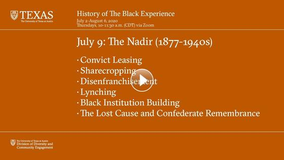 History of The Black Experience - July 9