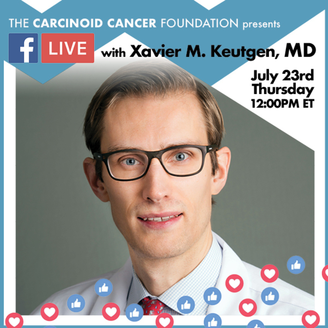 Dr. Xavier Keutgen will be the featured guest for Luncheon with the Experts