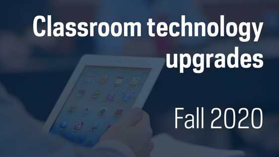Graphic says classroom technology updrades Fall 2020s water is safe to drink.