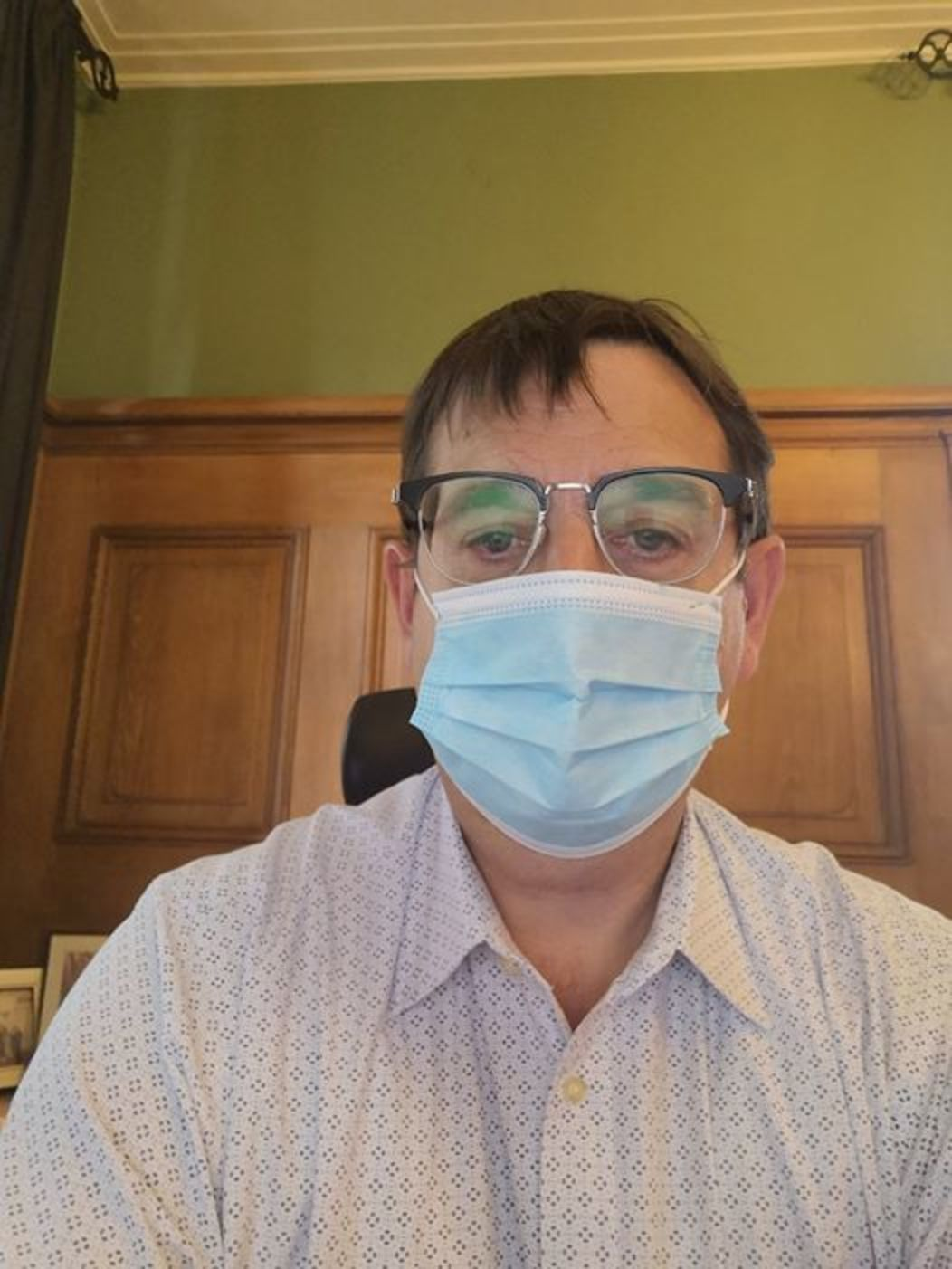MUDEC Interim Executive Director Raymond Manes with mask