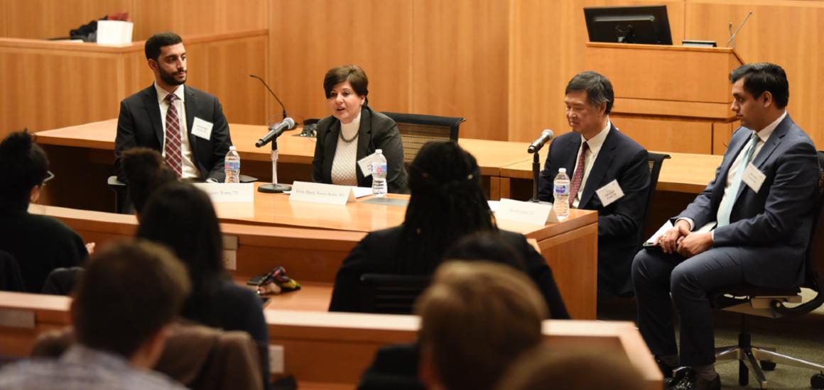 Panel of judges speaking