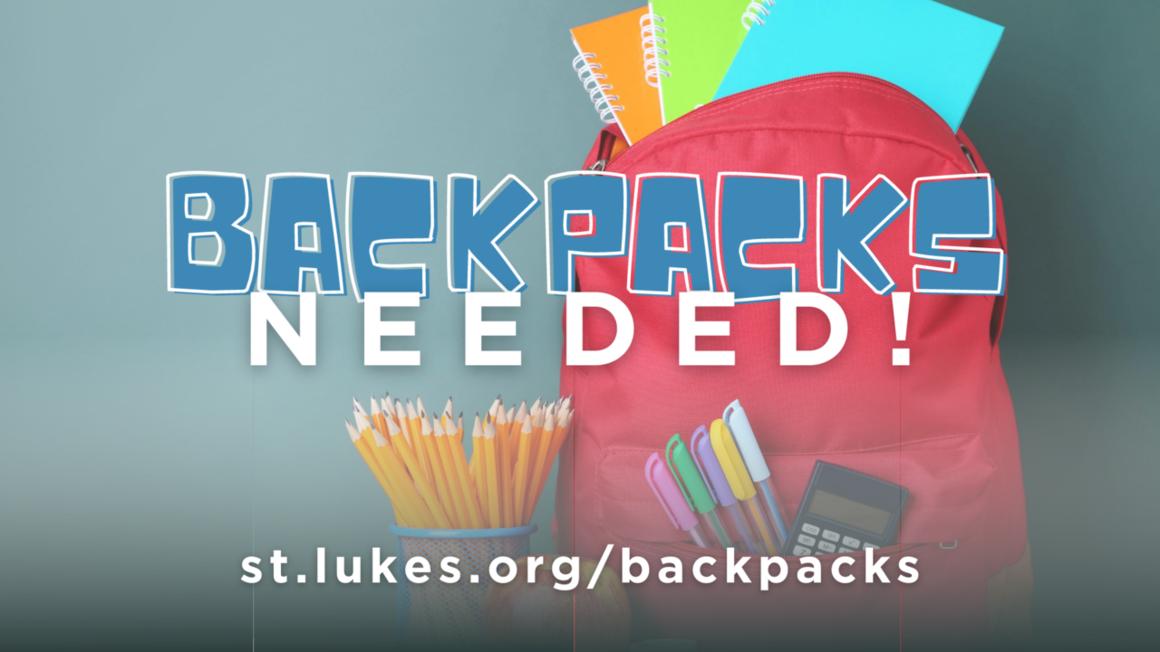 Backpacks event webpage
