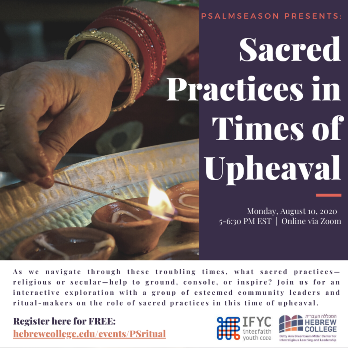 PsalmSeason Event: Sacred Practices in Times of Upheaval
