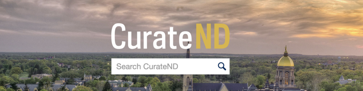 Graphic that says CurateND on it and there is a search box under the logo.