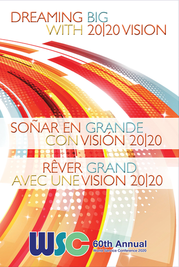 image of a book cover with the words 2020 World Service Conference Summary