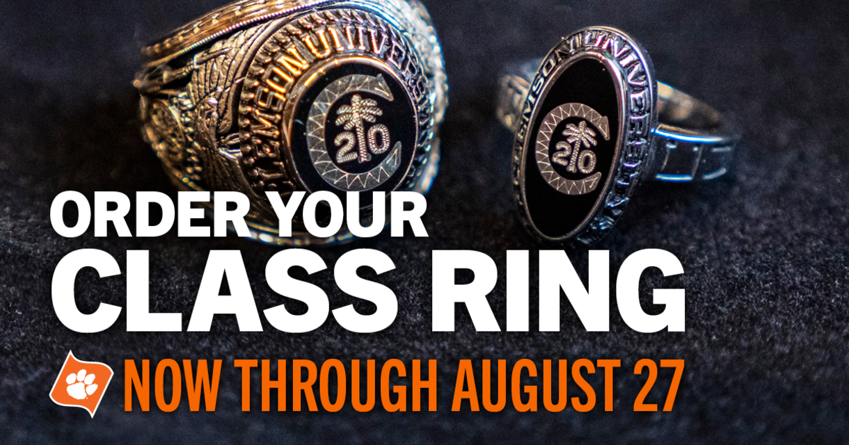 Order Your Class Ring Now Through August 27