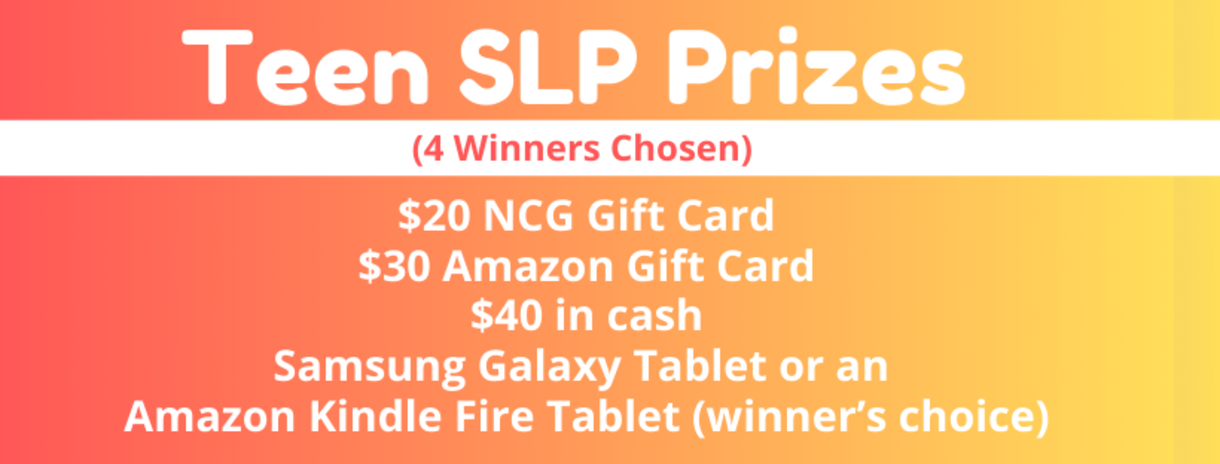 Teen SLP Prizes