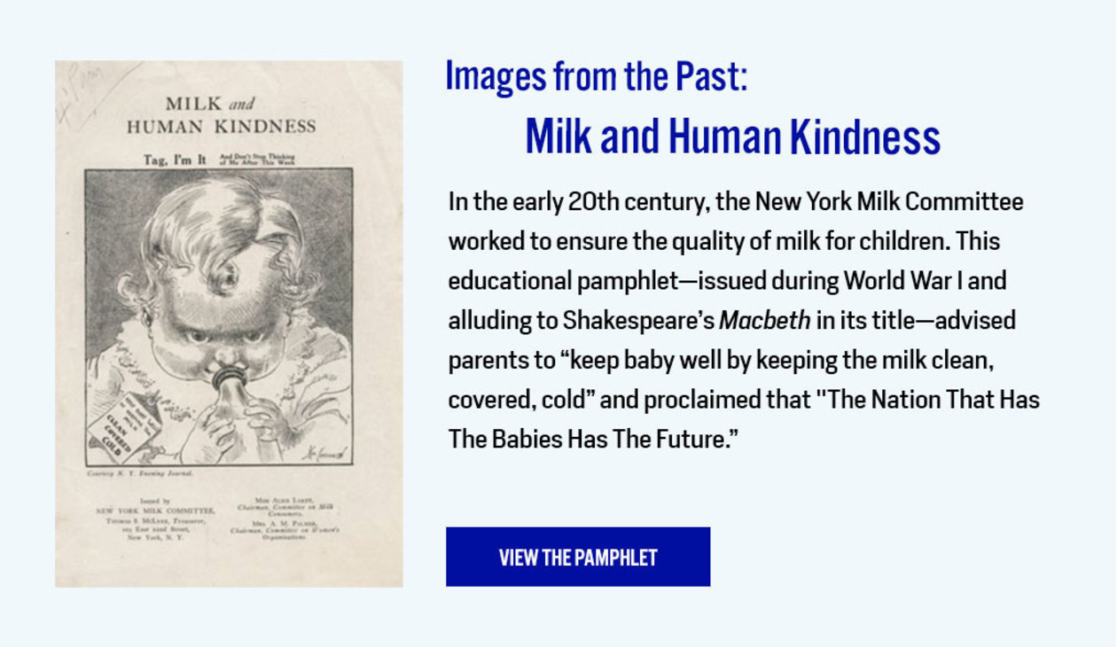 Images from the Past: Milk and Human Kindness