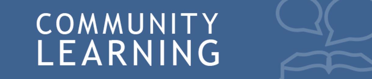 community learning banner