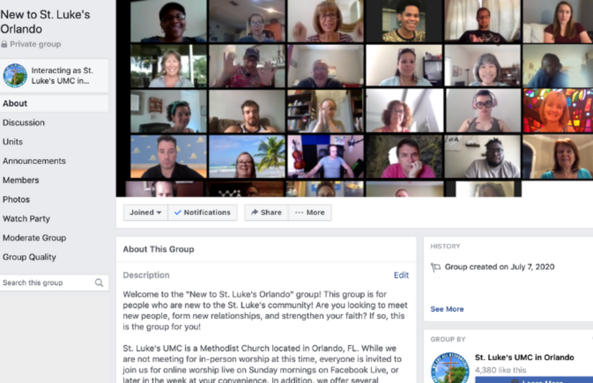 New to St. Luke's Facebook Group link