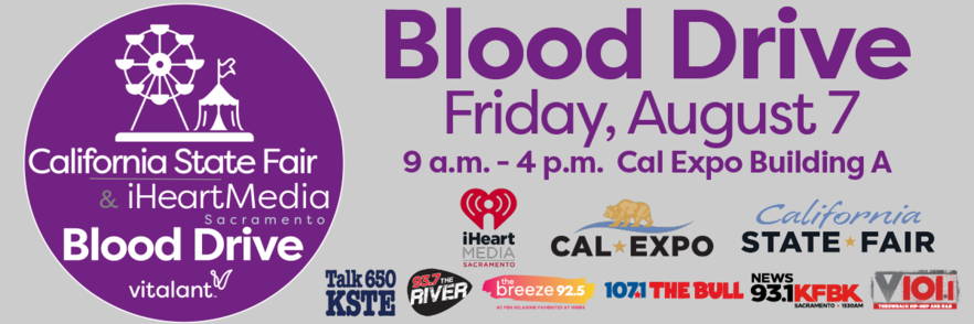 Blood Drive at Cal Expo Flyer