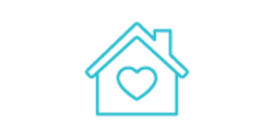 Icon: house with heart inside