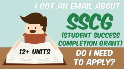 I got an email about SSCG (student success completion grant). Do I need to apply?