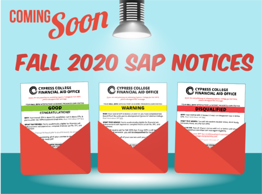 Coming Soon: Fall 2020 SAP Notices