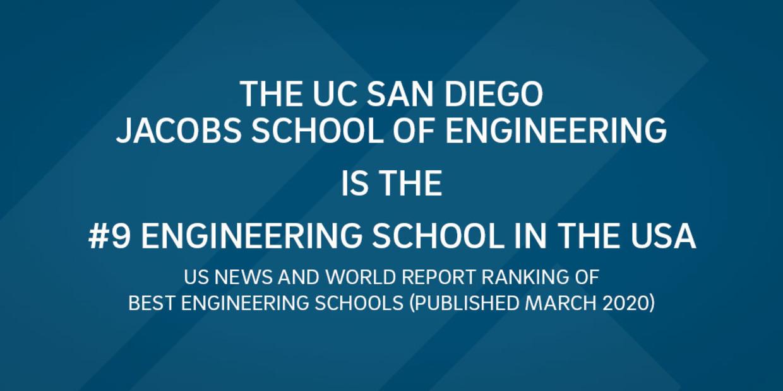 UC San Diego Jacobs School of Engineering ranks #9 in USA