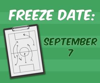Freeze date: September 7
