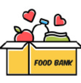 Image: food bank box of food